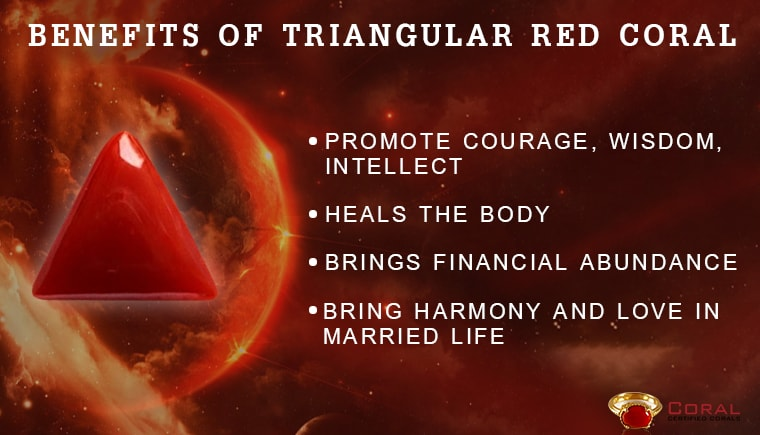 Benefits of Triangular Red Coral Gemstone