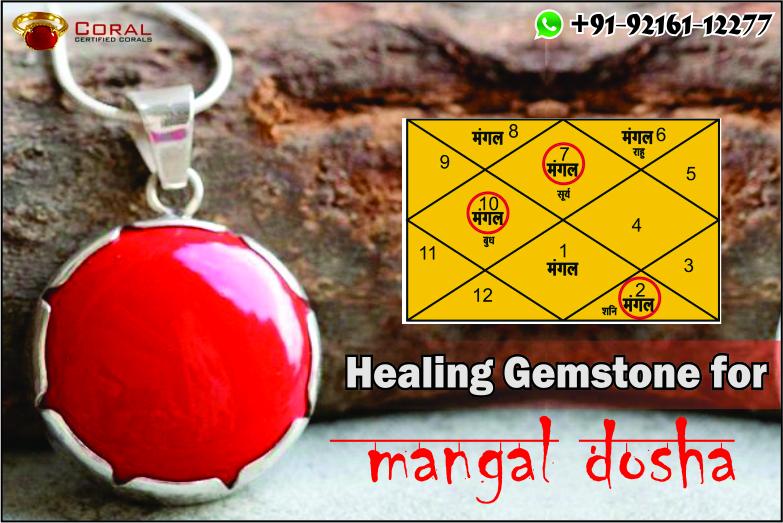 Healing gemstone for mangal dosha