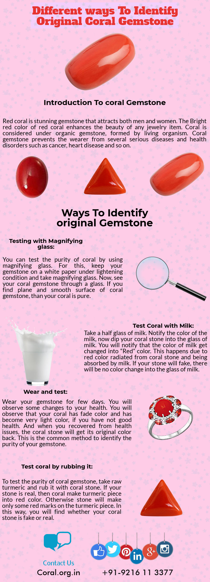 different way to identify coral gemstone-coral.org